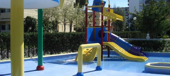 Construcción de un parque acuático infantil